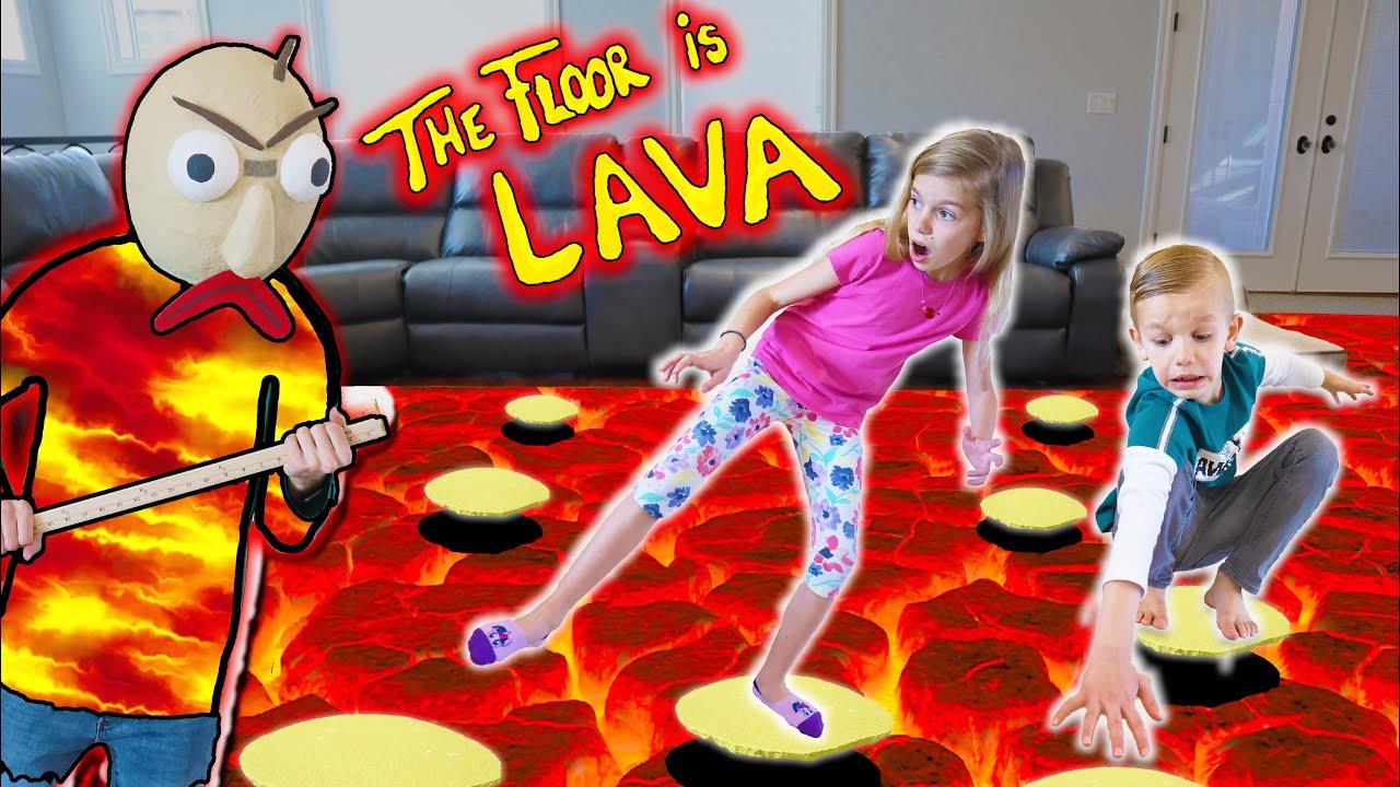 Download Floor Is LAVA And Baldi Is Lava Monster!