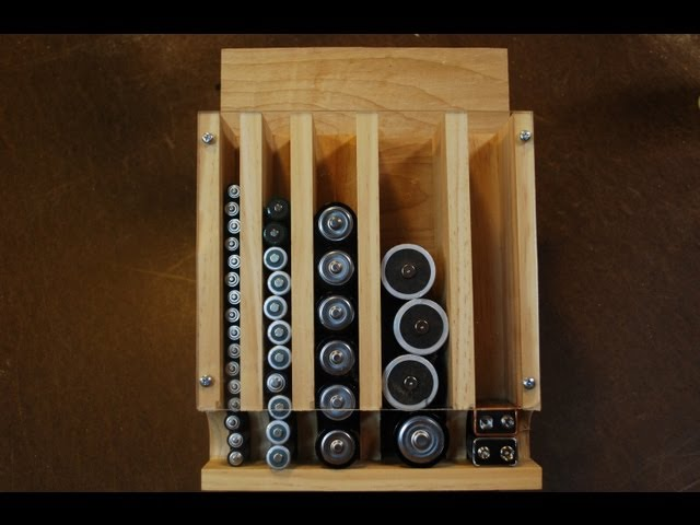Build a wall mounted battery organizer and flex your woodworking build a wall mounted battery organizer and flex your woodworking skills solutioingenieria Images