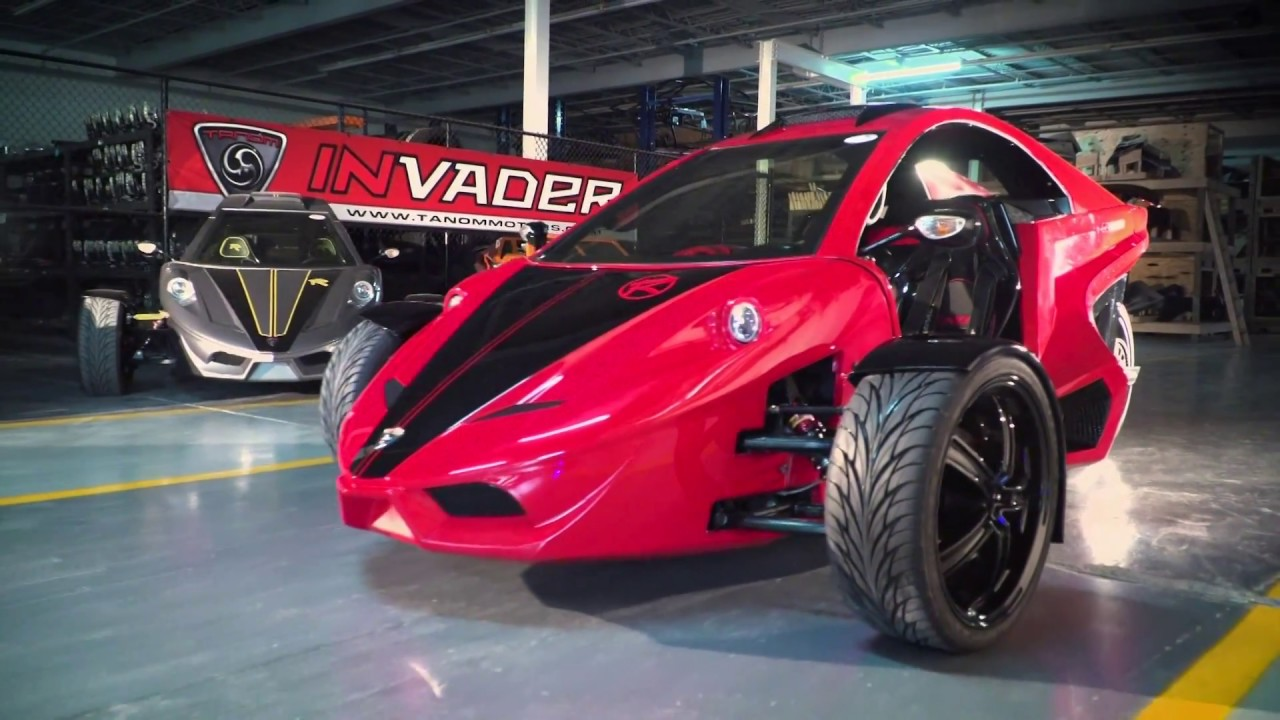 The Tanom Invader A High Performance Three Wheeled Vehicle Youtube