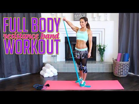 Short Full-Body Workout w/ Resistance Bands   Natalie Jill