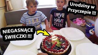 Urodziny w Przyczepie Kempingowej !!! - Nieplanowany PRANK ??? *niegasnące świeczki  (Vlog #316)