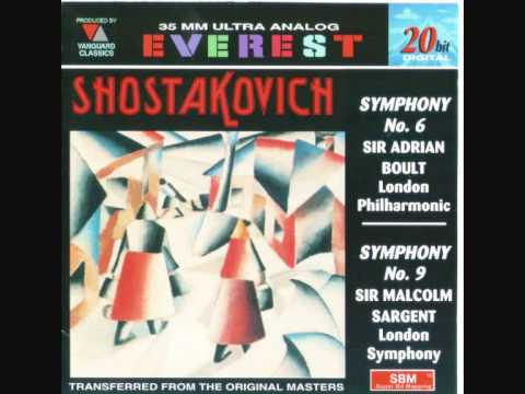 Shostakovich Symphony No.6 - Finale - Sir Adrian Boult conducts