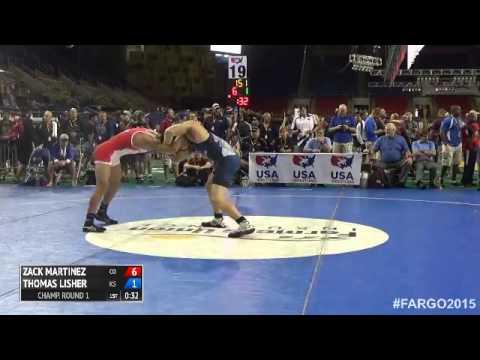 145 Champ. Round 1 - Thomas Lisher (Kansas) vs. Zack Martinez (Colorado)