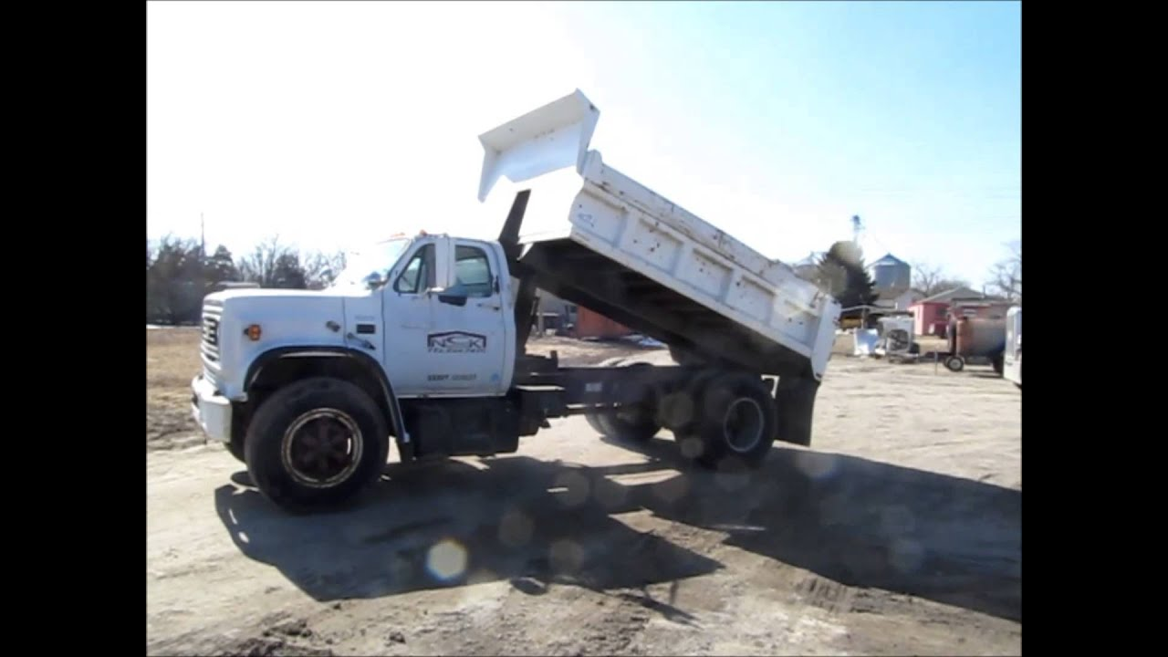 1988 chevrolet kodiak c70 dump truck for sale sold at auction march 27 2014 youtube. Black Bedroom Furniture Sets. Home Design Ideas