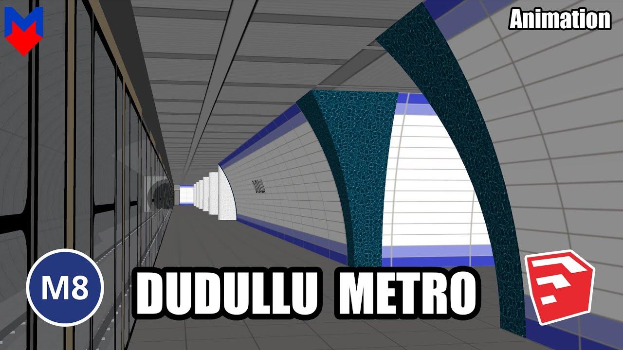 M8 Dudullu Metro İstasyonu   İstanbul Metro   SketchUp   3D Alternatif İstasyon