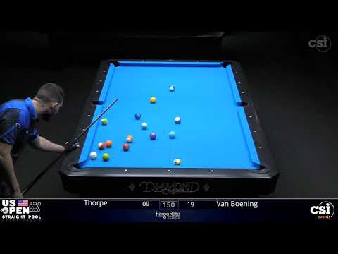 STRAIGHT POOL FINAL: Shane Van Boening Vs Billy Thorpe | 2019 US Open Straight Pool Championship