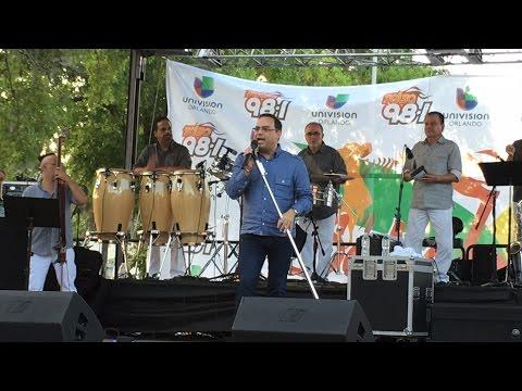 Gilberto Santa Rosa Live at Salsa y Sazón Latin Food and Music Festival - Orlando FL - 24-Apr-2016