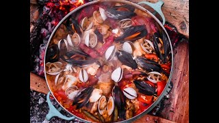 Catch and Cook AMAZING SEAFOOD PAELLA!!