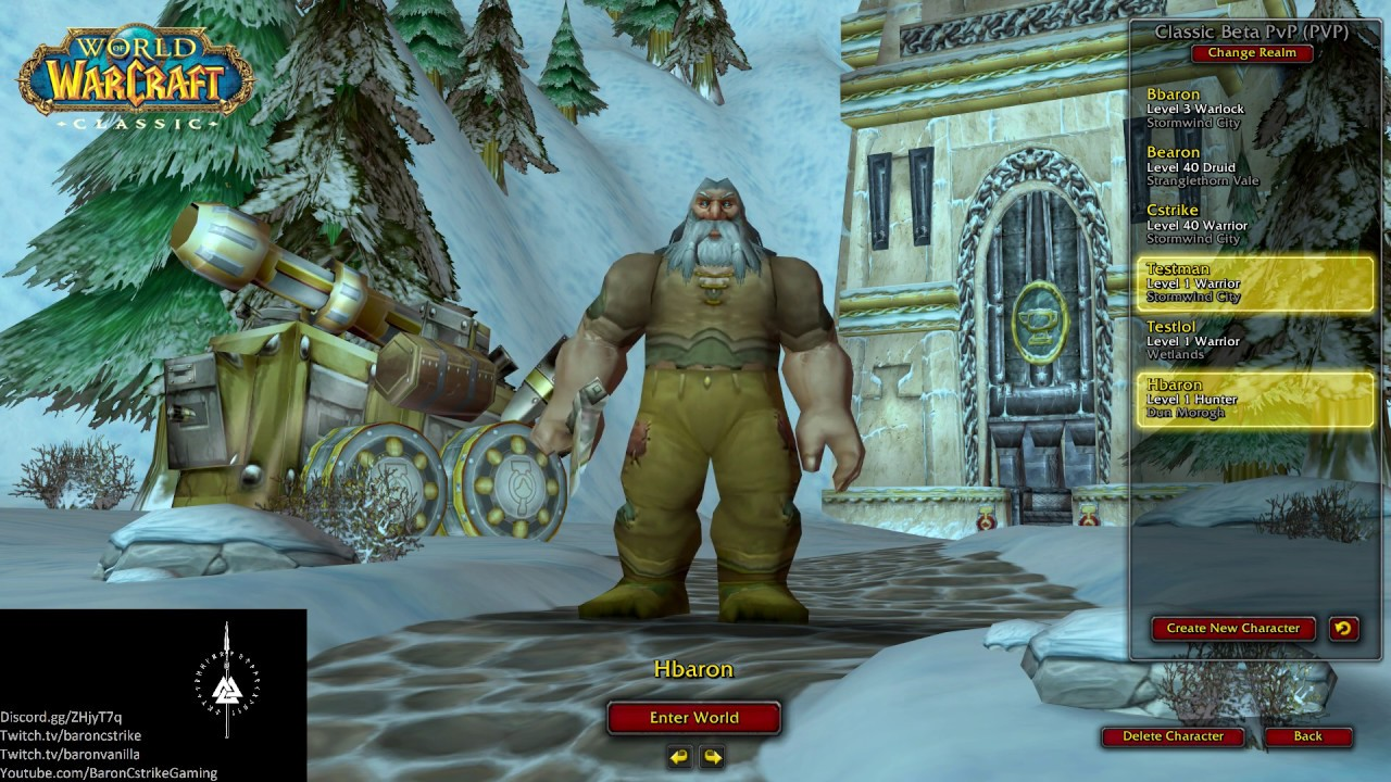 WoW #159 - Classic WoW Beta - Dwarf Hunter lvl 1-10