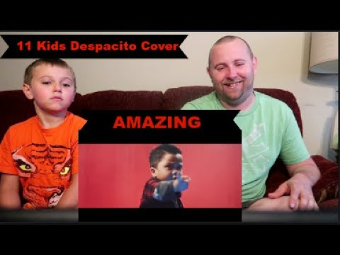 Despacito Cover by GENHALILINTAR Mom&11kids (ALL AGES LYRICS) REACTION!