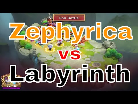 Castle Clash Zephyrica Vs. Labyrinth