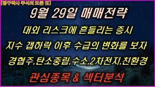 9월29일 주식 한국가…