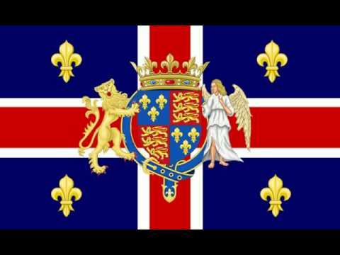 Flag and anthem of the United Kingdom of France and England
