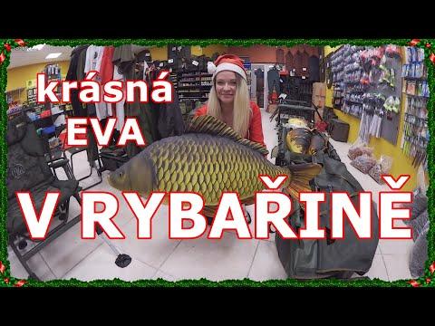 Mivardi 2018 vánoční  návštěva  rybářských potřeb s krásnou rybářkou  Evou