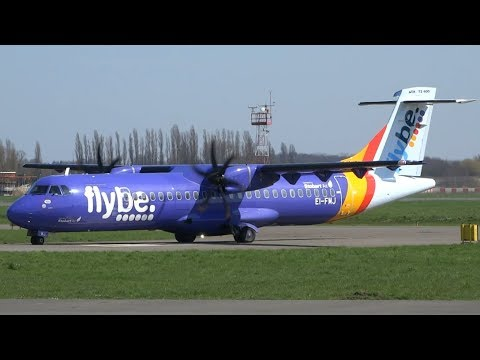 NEW | Flybe service London Southend - Antwerp | Landing and Take-off at Antwerp Airport