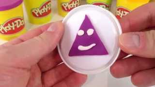 Play doh Making Shaped Triangle - Learn shapes