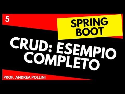 Imparare Spring Boot: CRUD (JPA + MVC + THYMELEAF) #5