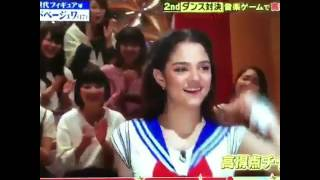 Evgenia Medvedeva dances Sailor Moon on Japanese TV