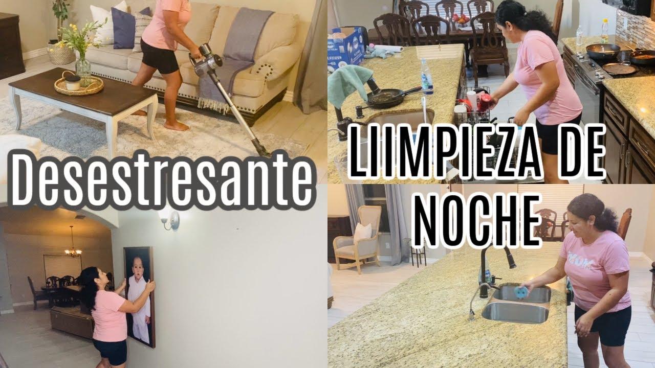 LIMPIA CONMIGO, LIMPIEZA DE CASA RELAJANTE DE NOCHE. #limpiaconmigo