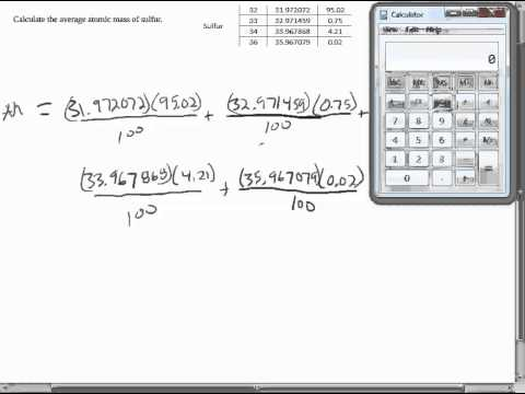 Printables Average Atomic Mass Worksheet calculating average atomic mass worksheet q2 youtube q2