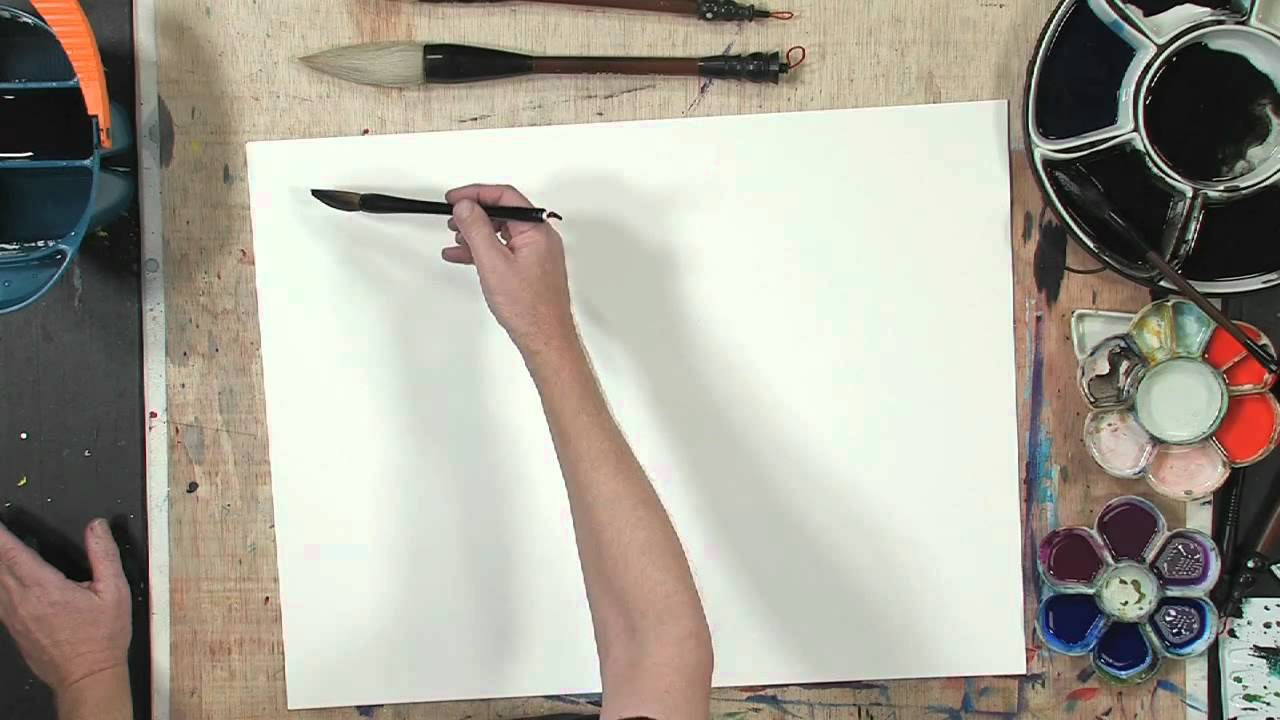 how to show brush strokes in paitning