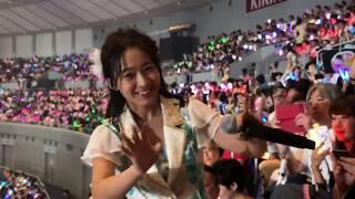 2018年8月1日(水) AKB48グループ感謝祭~ランクインコンサート~ @横浜アリーナ 太田奈緒推し席 撮影タイム 01 オキドキ 02 あなたがいてくれたから.