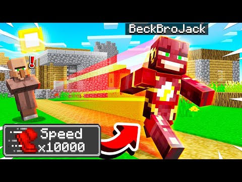Playing MINECRAFT As The FLASH! (10000x Faster)