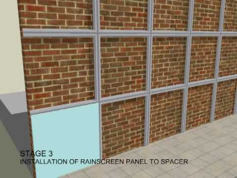 Application Of Wall Cladding Youtube