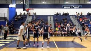 LHS Boys Basketball vs Peabody - Playoffs  2017