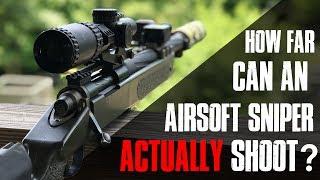 How far can an airsoft SNIPER actually shoot?