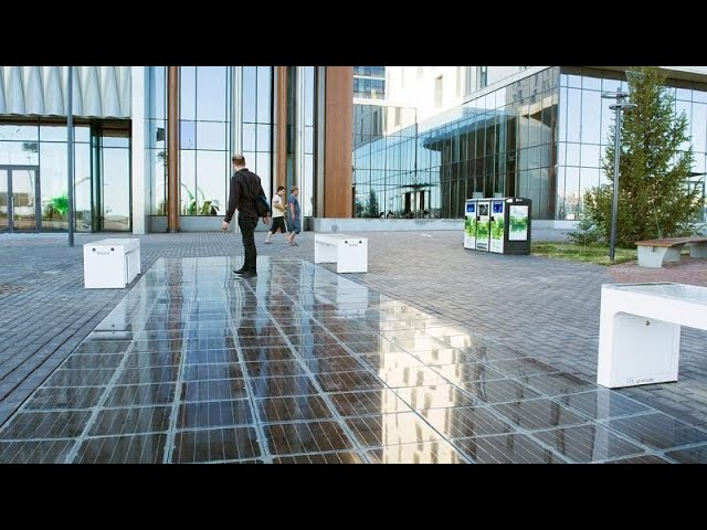 A Hungarian company is making solar-powered tiles that people can walk on safely