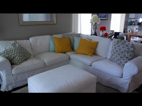 MOMMY MAYhem DAY #8: IKEA EKTORP WHITE COUCH REVIEW!