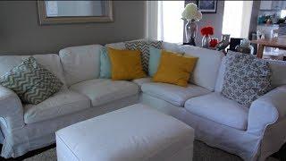 MOMMY MAYhem DAY #8: IKEA EKTORP WHITE COUCH REVIEW!