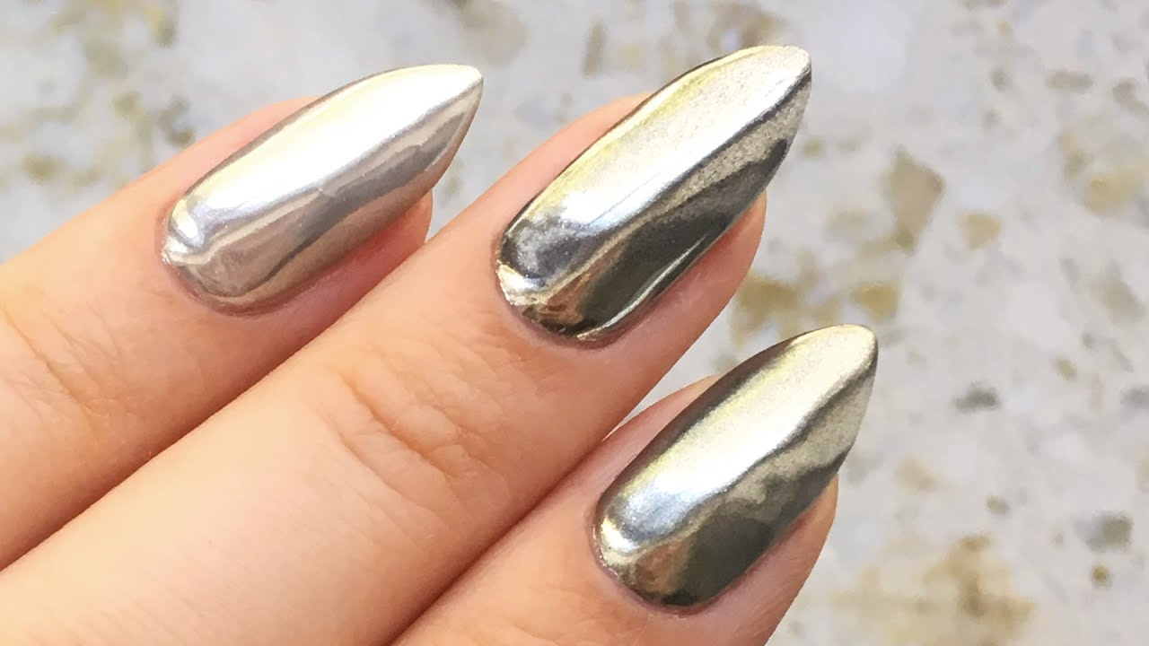 Mirror Nails Lustrzane Paznokcie Z Chrome Effect Red
