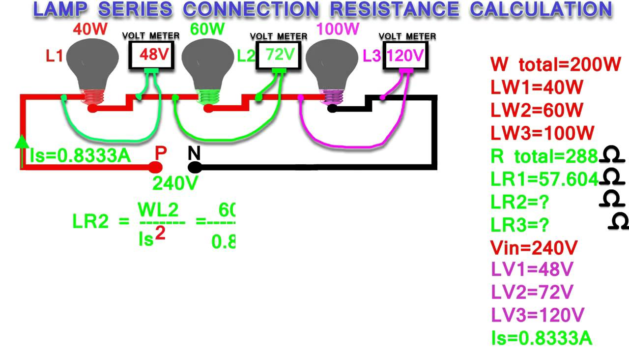 lamp series connection resistance calculation,how to calculate ...