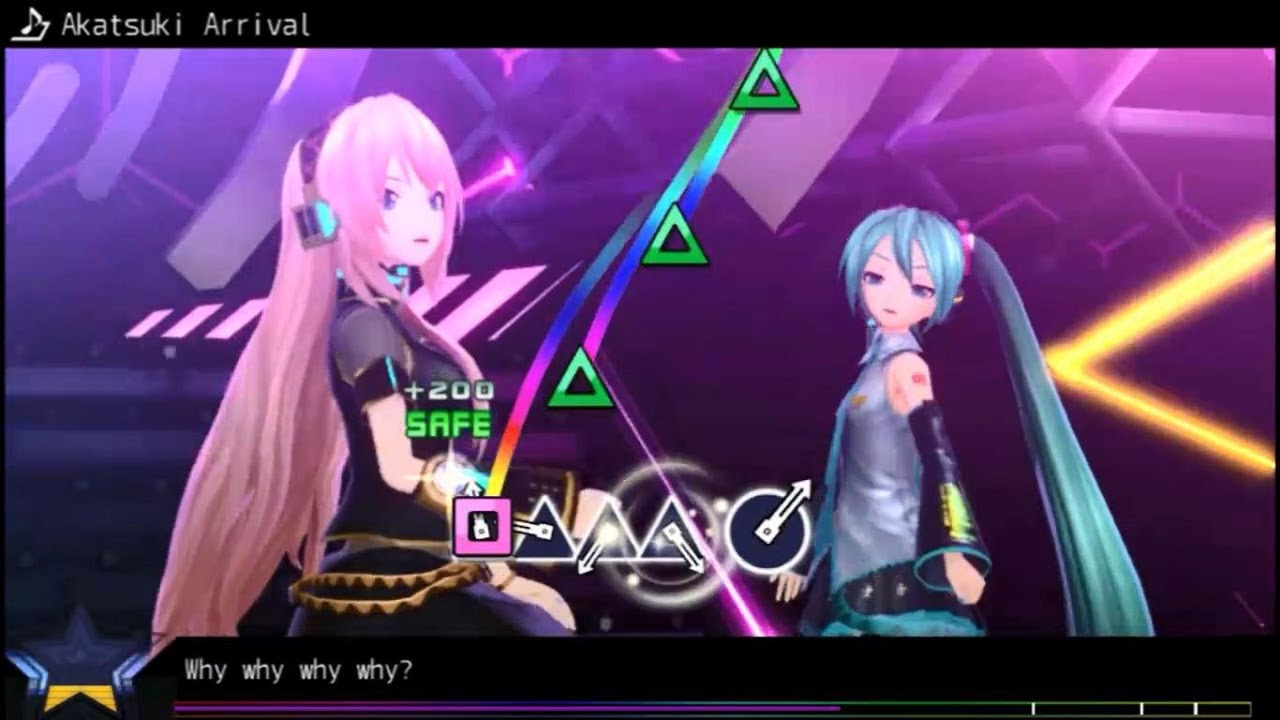 Hatsune Miku Project Diva F 2nd Vita Gameplay - YouTube