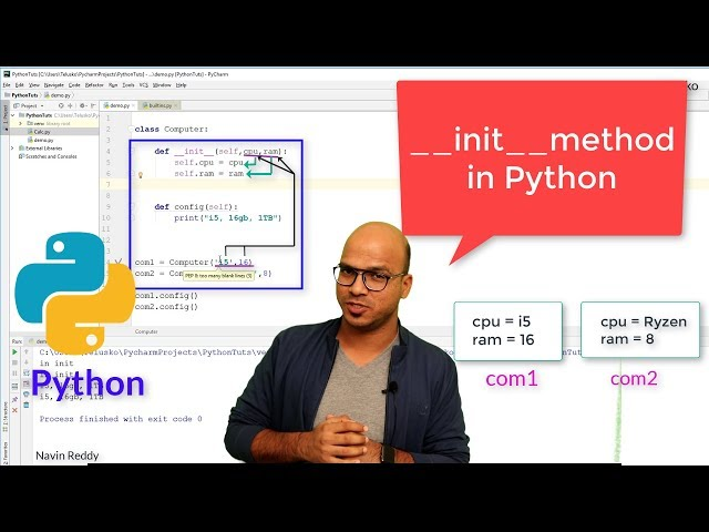 #50 Python Tutorial for Beginners | __init__ method
