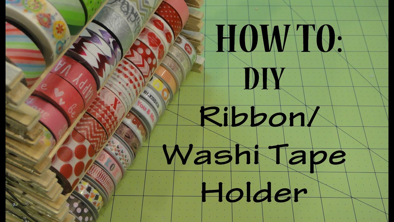 How to washi tape holder ribbon holder youtube how to washi tape holder ribbon holder solutioingenieria Image collections