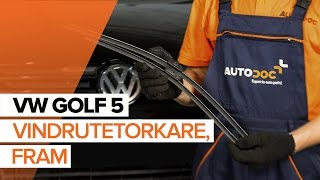 Byta Vindrutetorkarblad on VW GOLF: verkstadshandbok