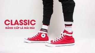 Mở hộp và trên chân Converse Classic Red Hi Top
