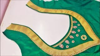 Very Beautiful Wedding Silk Saree Designer Blouse Made In Simple & Easy Method (DIY)