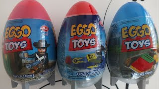 3 LEGO Surprise Eggs Unboxing ; Fake Eggs and Gift Toys
