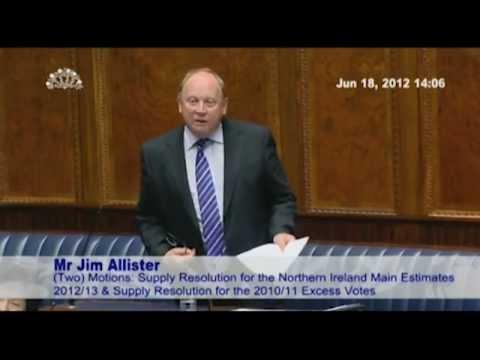 TUV's Jim Allister in the NI Assembly 2011-2012