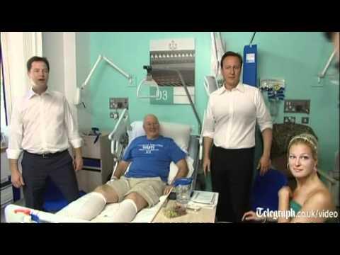 Furious doctor interrupts cringing David Cameron's photo-op at NHS hospital