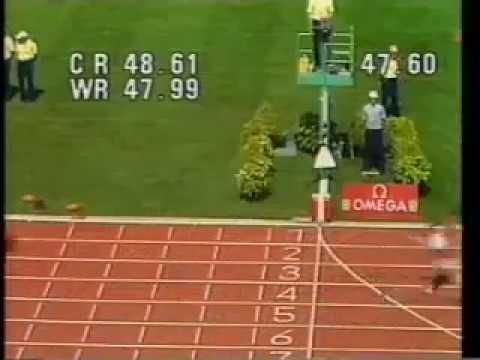 W 400m marita koch canberra aus 1985 for Koch 400m world record