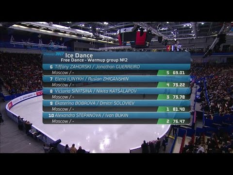 2017 Russian Nationals - Ice Dance Free Dance Group 2 ESPN