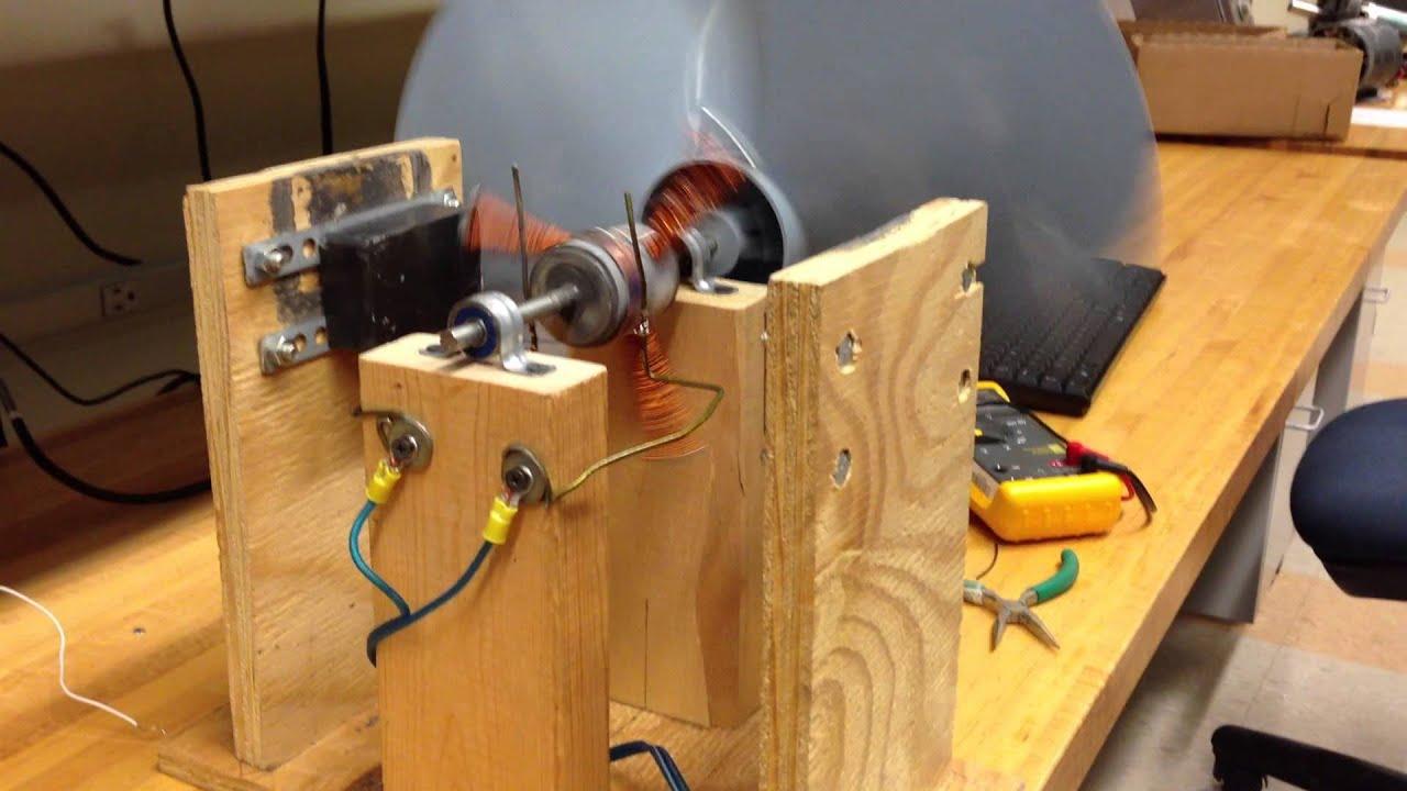Homemade brushed 3 pole dc motor youtube for Etek r brushed dc electric motor