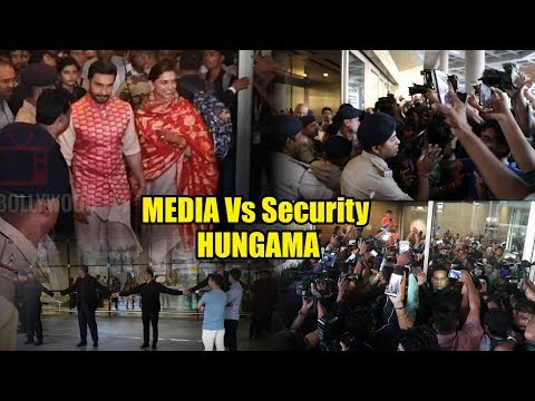 MEDIA & Security HUNGAMA 👺😡 In Front...