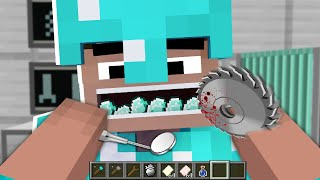WHAT'S in the PRO MOUTH? NOOB vs PRO in Minecraft Animation!