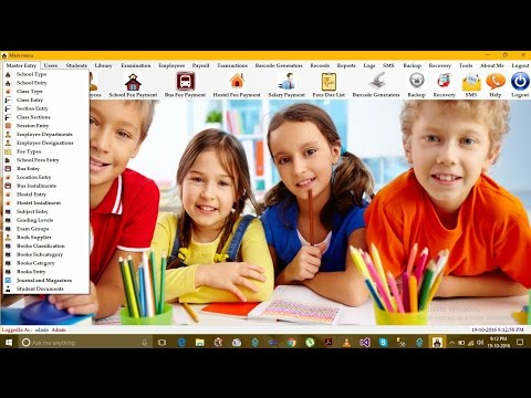 School Management System Project in C#
